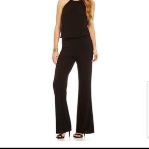 Laundry Shelli Segal Black Halter Jumpsuit Size 6